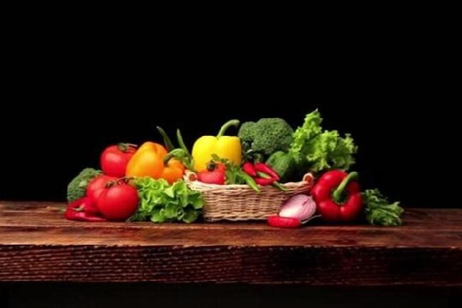 Background Warna pada Sayuran