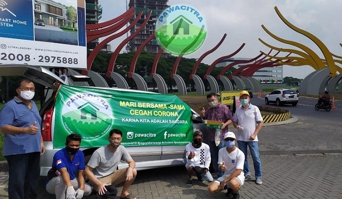 Cegah Corona, PAWACITRA Bagikan Masker, Vitamin dan Nasi Bungkus ke Pengguna Jalan