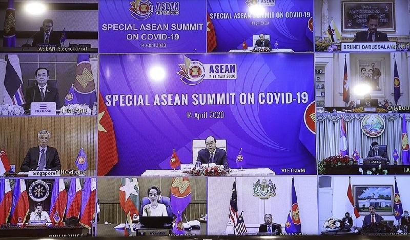 Pemimpin ASEAN Gelar Pertemuan Melalui Video Conference Bahas Penanganan COVID-19