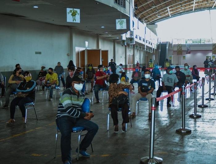 Social Distancing dalam Pembelian di Lumbung Pangan Jatim