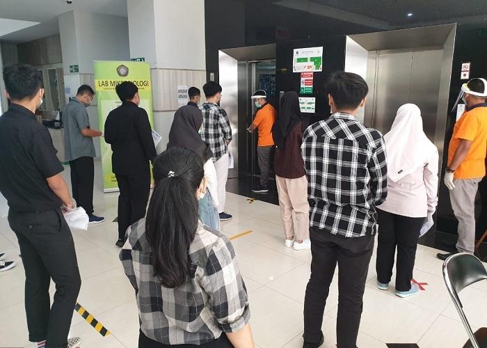 Antrian Perserta UTBK di UB Harus Ikuti Protokol Kesehatan