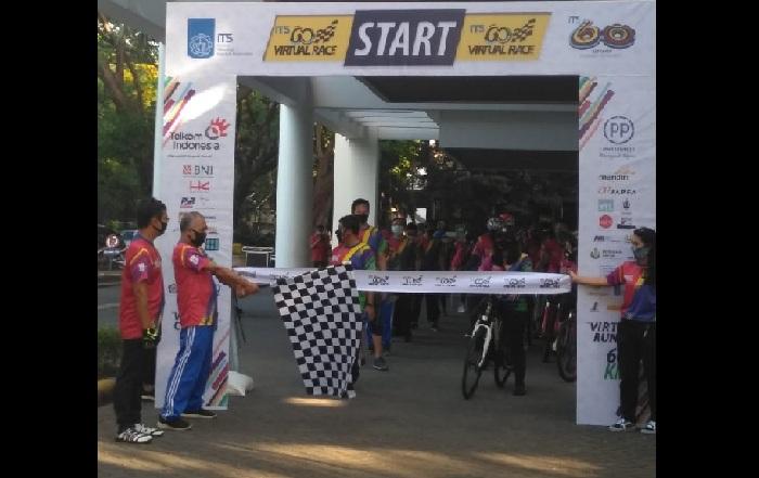Rayakan Lustrum XII, ITS Lepas 1.100 Pelari dan Pesepeda Beradu Cepat dalam Virtual Race