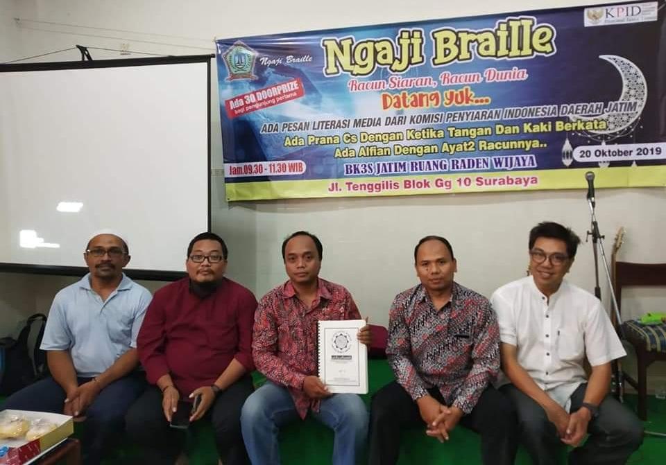 Ngaji Braille di KPID Jatim