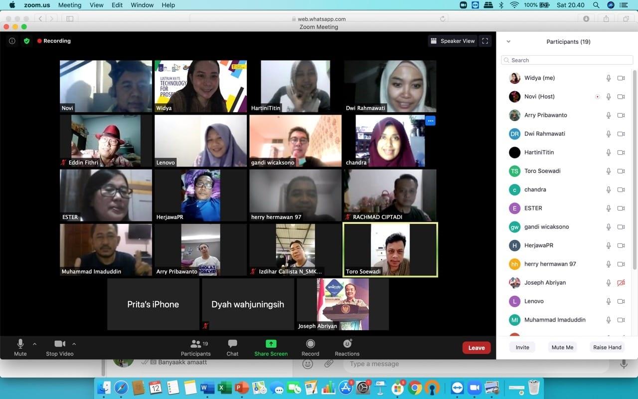 Rapat pengurus IKARHOLAZ via Zoom