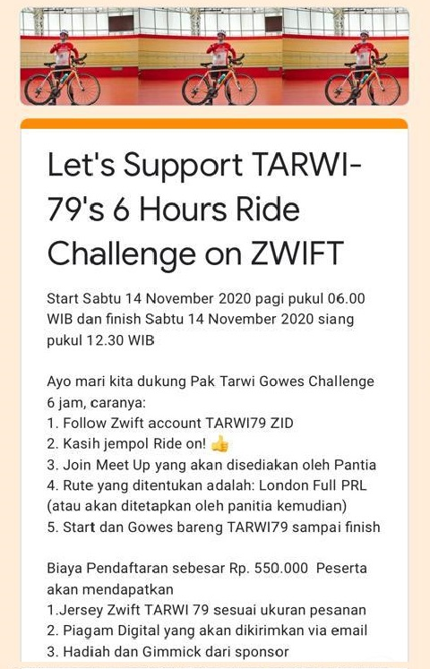 Flyer Tarwi Virtual Challange
