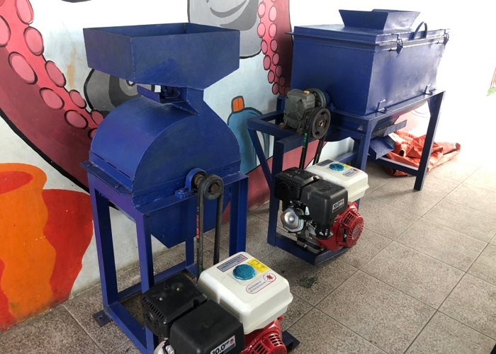 Mesin pencacah limbah cangkang kerang
