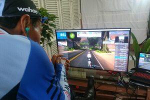 Tarwi Sukes Tuntaskan Bersepeda Virtual Selama 6 Jam