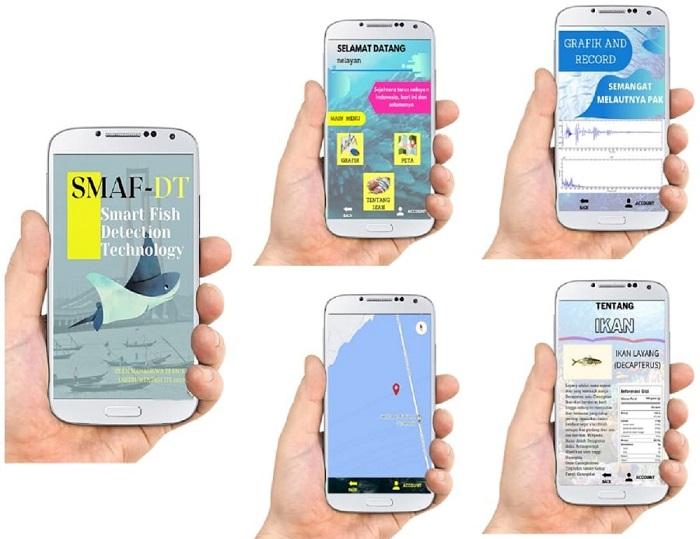 Aplikasi SMAF-DT dioperasikan dengan smartphone