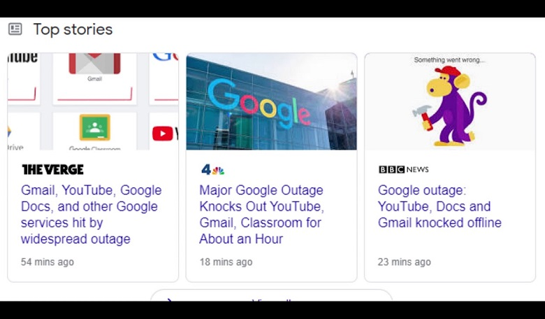 Gangguan Autentifikasi, Applikasi Google Sempat Tak Bisa Diakses