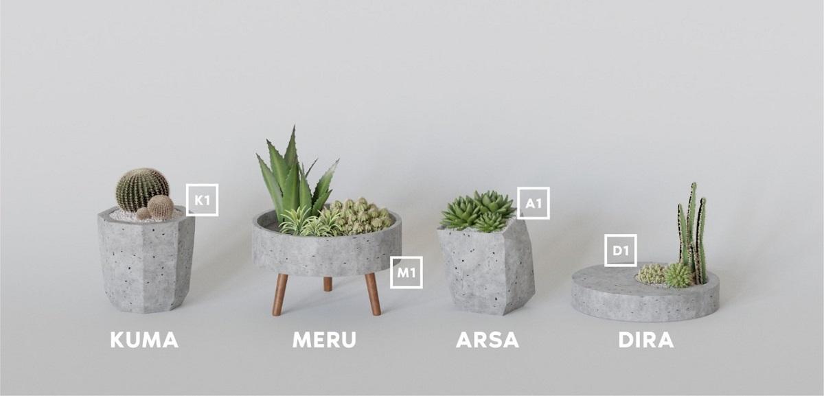 Beberapa jenis vas bunga