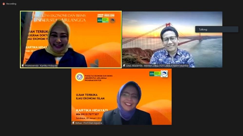 Mendes PDTT & Dr Kartika Hidayati