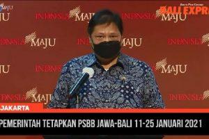 11-25 Januari 2021, Pemerintah Terapkan PSBB di Jawa dan Bali