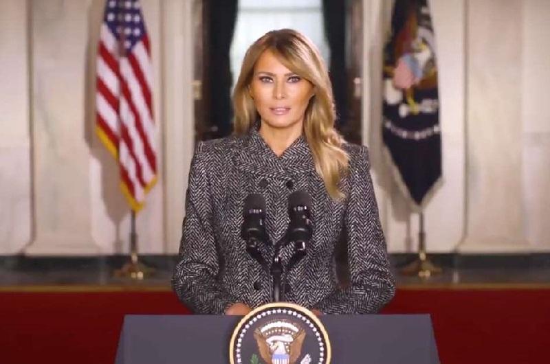 Melania Trump Ucapkan Salam Perpisahan Sebagai First Lady AS