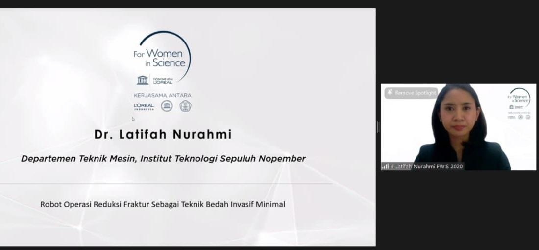 Penghargaan dari L'Oreal UNESCO for Women in Science 2020