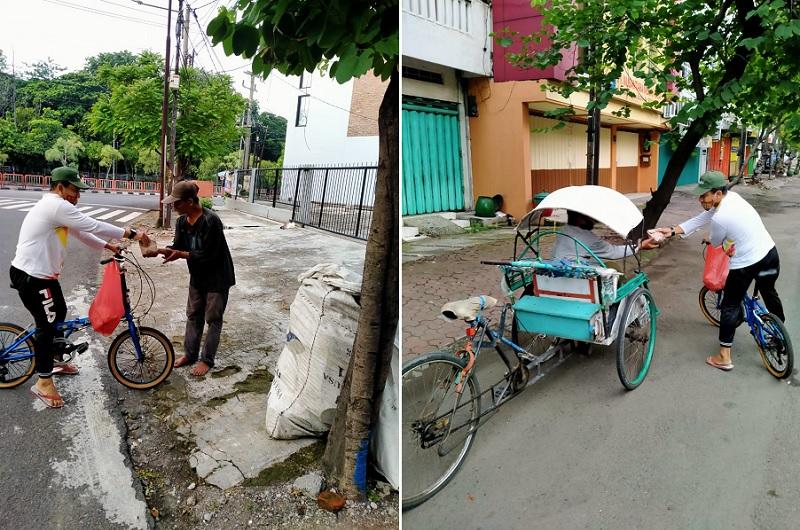 Lebih efektif bagikan nasbung dengan besrsepeda