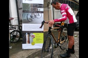 Tarwi Penasaran Jajal Sepeda Bambu Spedagi Hingga Temanggung