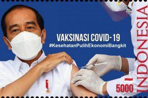 RI Terbitkan Prangko Seri Vaksinasi COVID-19