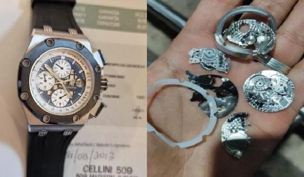Curiga Dipakai Selundupkan Emas, Petugas Hancurkan Jam Tangan Mewah Senilai Hyundai Palisade