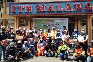 Peduli Gempa Malang, ITN Malang Bersama Komunitas Salurkan Bantuan Logistik
