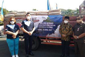 Peduli Korban Gempa, BPF Malang Serahkan Bantuan Beras dan Semen
