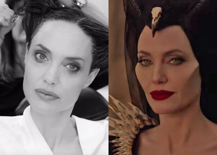 Transformasi wajah Jolie di Maleficent