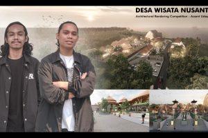 2 Mahasiswa ITN Malang Asal NTT Juara 1 Architecture Rendering Competition Acsent Udayana 2021