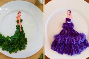 Wanita asal LA Ubah Makanan Jadi Busana Red Carpet ala Artis Hollywood