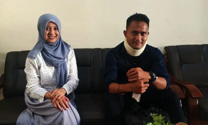 Regar bersama staf humas ITN Malang