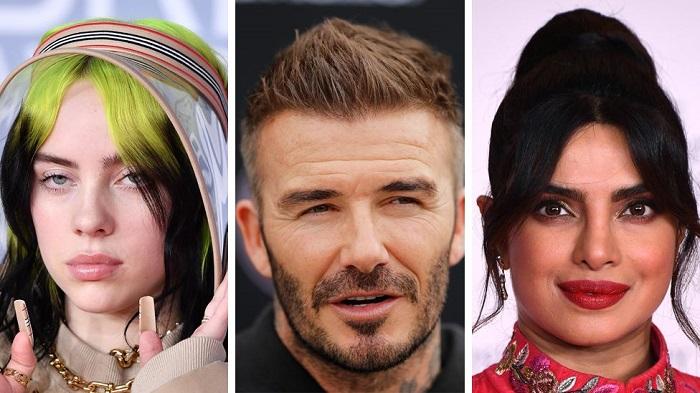Billie Ellish, David Beckham dan Priyanka Chopra