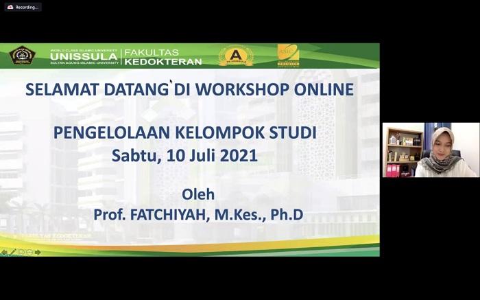 Workshop online pengelolaan kelompok studi di FK Unissula