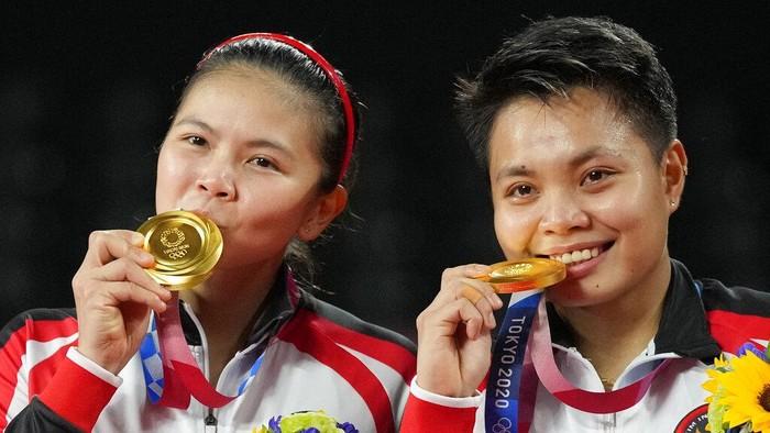 Greysia-Apri meraih emas di Olimpiade Tokyo