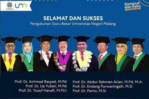 Universitas Negeri Malang Kukuhkan Enam Guru Besar Baru