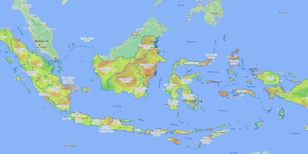 Potensi bencana kekeringan sedang hingga tinggi di Indonesia